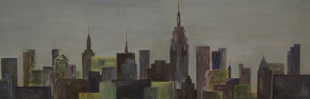 City skyline 50x120
