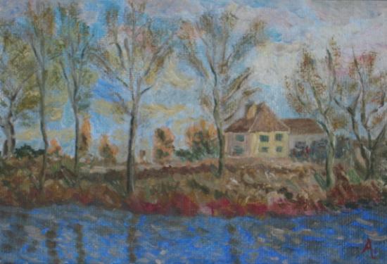 Rive de Seine, d'après Alfred Sisley