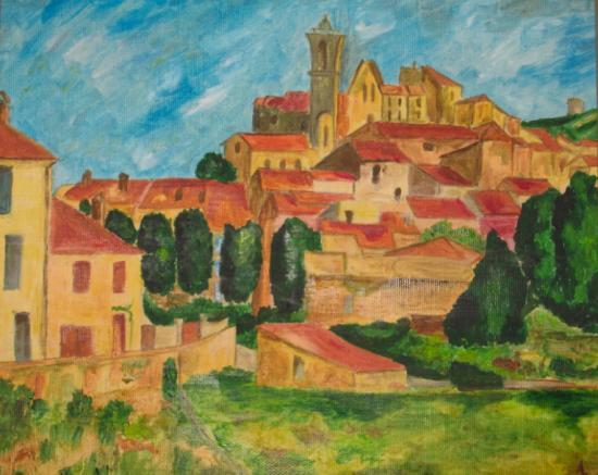 Mas provençal, d'après Paul Cézanne