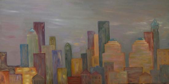 NY twilight  (100x50)