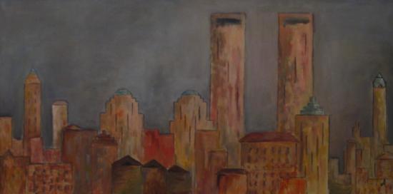 Cloudy Manhattan (100x50)