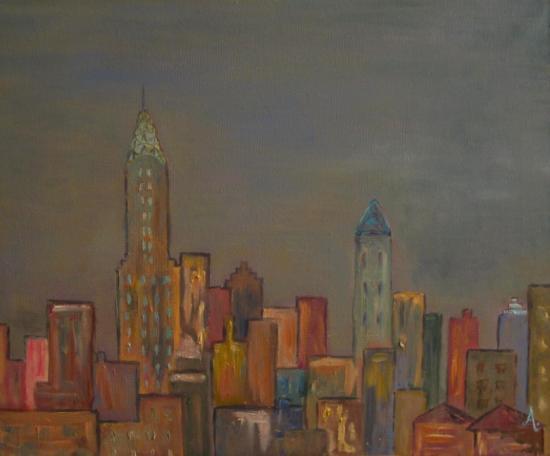 NY dusk (46x38)