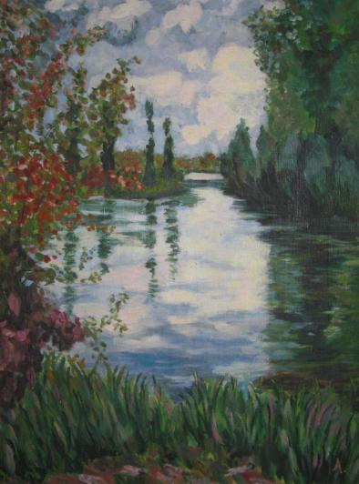 Bords de Seine, d'après Gustave Caillebotte