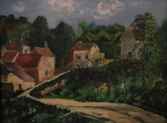Journée ensoleillée, d'après Camille Pissaro
