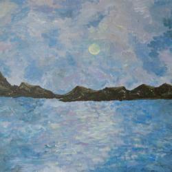 mer et ciel soleil couchant